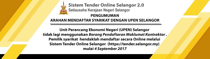 Tiada lagi Pendaftaran dengan UPEN Selangor