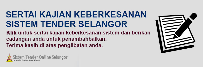 Kajian Keberkesanan Sistem Tender Selangor